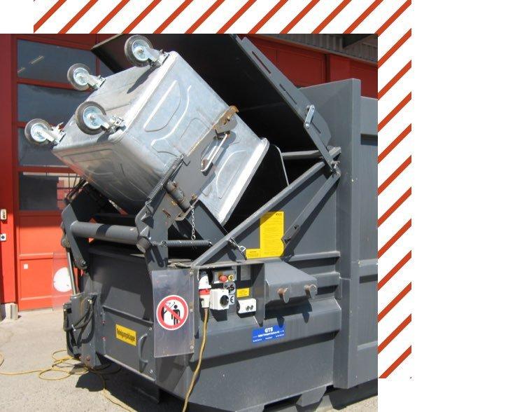 Muehle Transport Entsorgung Presscontainer Haken