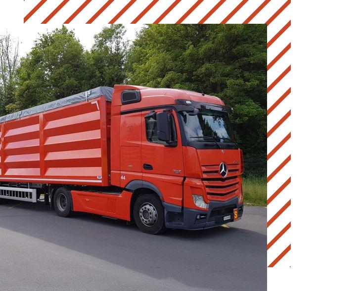 Muehle Transport Fahrzeuge Grossvolumenkipper