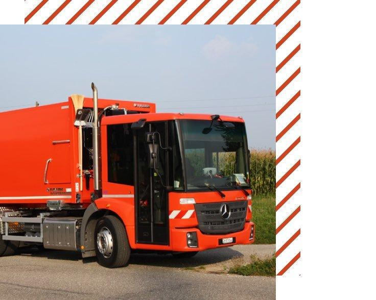 Muehle Transport Fahrzeuge Kehrichtwagen