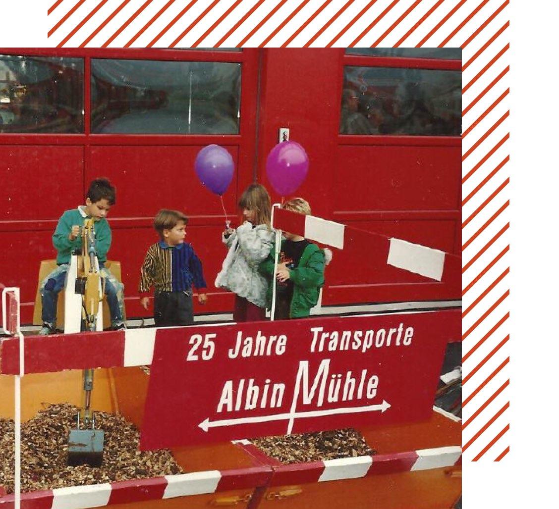 Muehle Transport Geschichte 25 Jahre